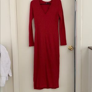 Zara red sweater dress
